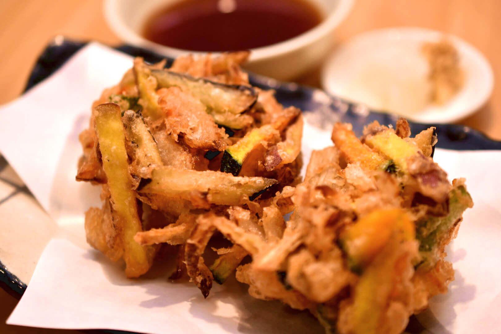 色々野菜のかき揚げ - 札幌 居酒屋道