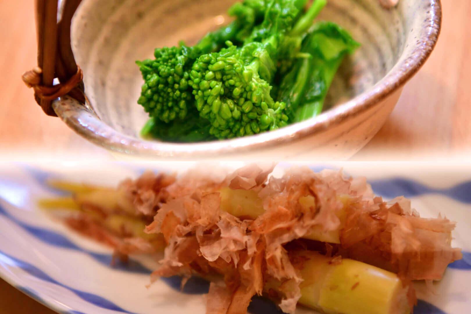菜の花からし正油と笹竹土佐和 - 札幌 居酒屋道