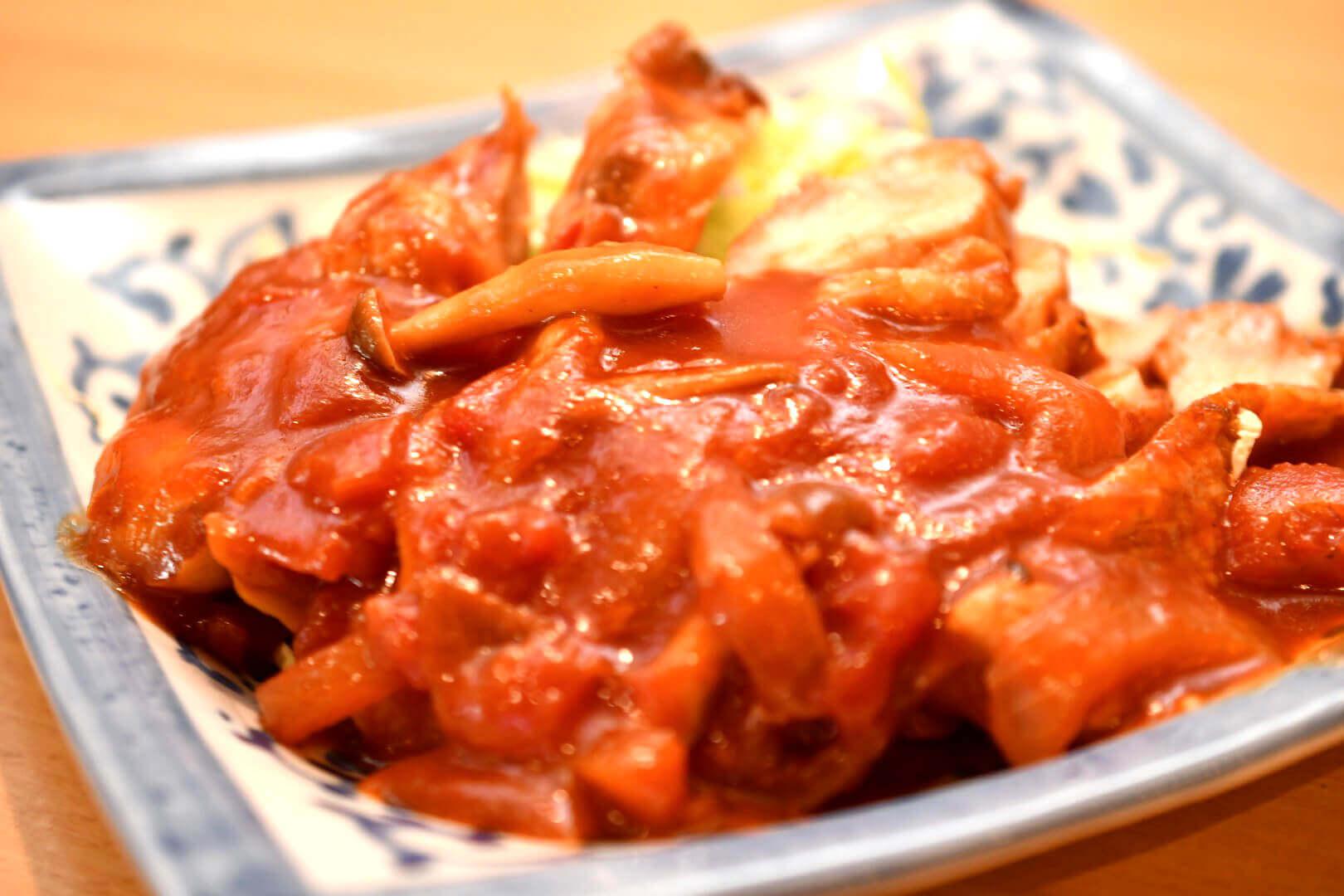 とりももトマト煮 - 札幌 居酒屋道
